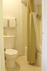 Full bathrooms with tubs and showers at HOTEL EREAL